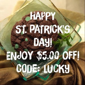 St. Patrick's Day $5.00 Off Pacific Cookie Company