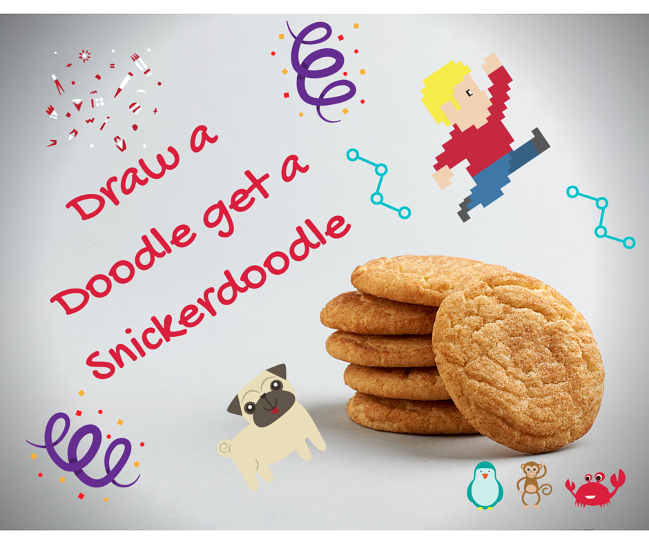 Draw a Doodle get a Snickerdoodle