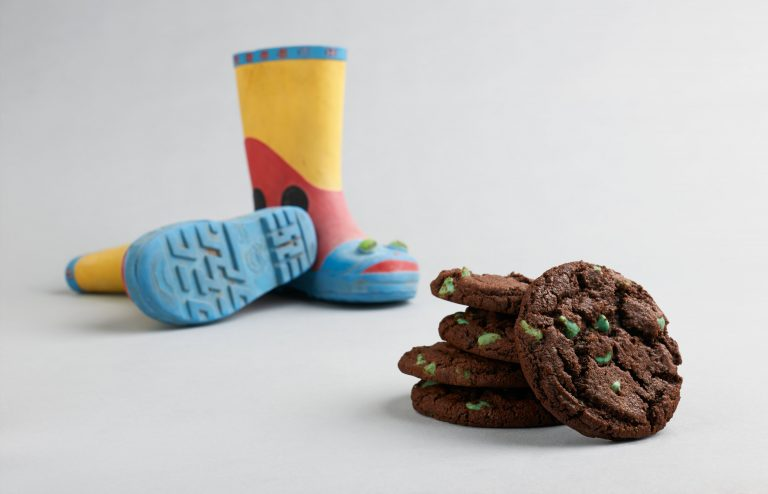 rain boots and mint condition cookies