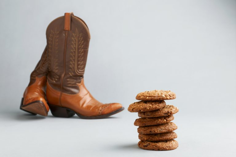 cowboy boots and almond joe cookies