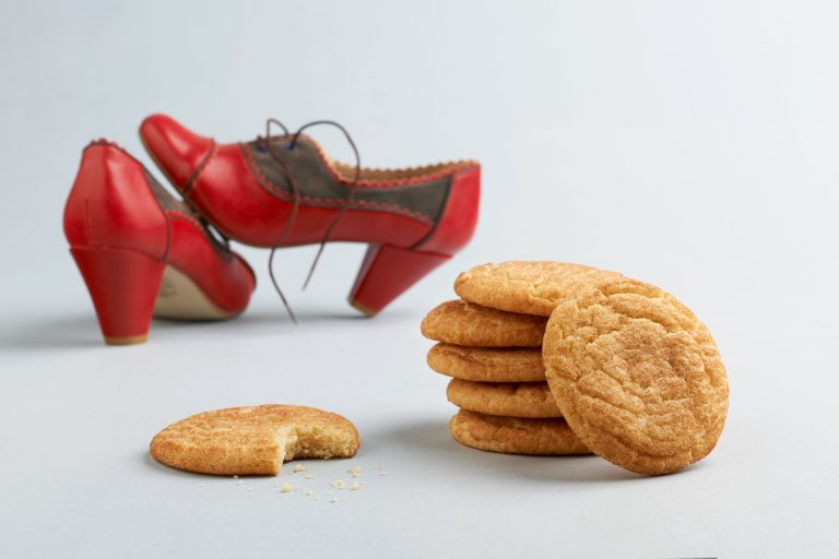 snickerdoodle cookies and fun red heels